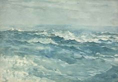 Light Blue Sea at Prout's Neck  -  Winslow Homer  1890-94American 1836-1910