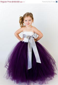 20% OFF SALE Ellie Flower Girl Tutu Dress with Customizable Sash