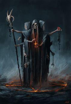 ArtStation - Demon, Stefan Koidl Dark Fantasy Art, Fantasy Kunst, Fantasy Artwork, Fantasy Demon, Art Macabre, Art Sinistre, Arte Dark Souls, Grim Reaper Art, Satanic Art