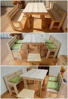 A much creative designing of the wood pallet has been finest done here that would make you fall in love with. This pallet project creation is all about the innovative patio benches and incredible table pairing in it where the stacking of the pallet planks has been all done on mind-blowing custom work.
