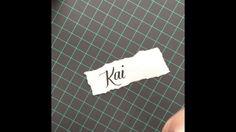 Brushlettering - Write My Name (Lettering Challenge from Instagram)