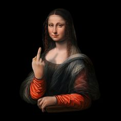 You are always in the center of any party with our super original and authentic awesome print. Great idea for Funny gift to your best friend or family Middle Finger Picture, Middle Finger Meme, Aesthetic Art, Aesthetic Pictures, Middle Finger Wallpaper, Monalisa Wallpaper, Reaction Pictures, Funny Pictures, Mona Lisa Smile