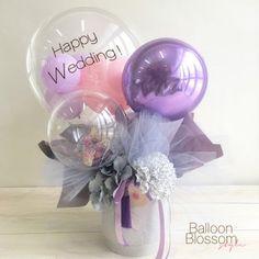 Balloon Basket, Balloon Box, Balloon Gift, Balloon Flowers, Paper Flowers Diy, Balloon Bouquet, Flower Bouquet Diy, Gift Bouquet, Boquet
