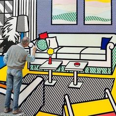Roy Lichtenstein at work