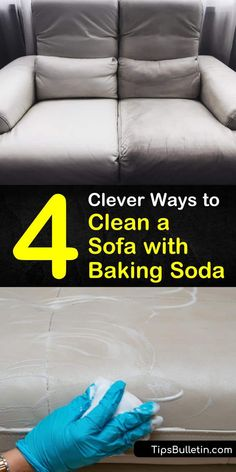 Learn the best way to perform upholstery cleaning by vacuuming with baking soda and a brush attachment. Make a DIY cleaner with baking soda, warm water, white vinegar, dish soap, and a spray bottle. #bakingsoda #sofacleaner #couchcleaning