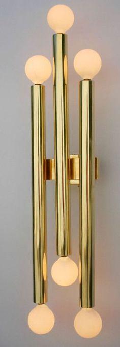 Gio Ponti; Brass Sconce, c1960.
