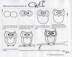 T. Matthews Fine Art: First Friday Art Class for November 2013 - Owls Extravaganza