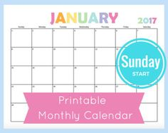 Printable Monthly Calendar For  This Dated Calendar Has