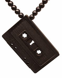 GoodWood NYC Cassette Wooden Necklace