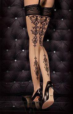 Bas Glamour Romantique Pin-Up Sexy Effet Tattoo  http://www.belldandy.fr/bas-glamour-romantique-pin-up-sexy-effet-tattoo.html https://www.facebook.com/belldandy.fr/photos/a.338099729399.185032.327001919399/10154229208164400/?type=3