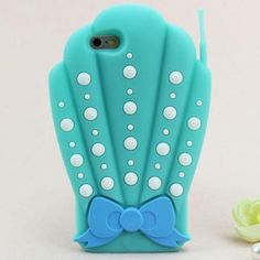 Mermaid SHELL PHONE 3D Case For iPhone 5 5s, 6, 6 Plus. Cute Soft Protective Back Cover Camera Cutaway Available for iPhone 5 5s, 6, 6 Plus