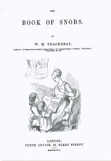 Like Read Books: The Book of Snobs by William Makepeace Thackeray