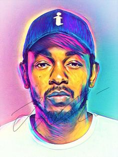 This is a print and not the original drawing! = Approximately x = Approximately x = Approximately x = Approximately x = Approximately x = Approximately x inches NO SIGNATURE on print. Kendrick Lamar Art, Kung Fu Kenny, Graffiti, Rapper Art, Abstract Drawings, Abstract Print, Hip Hop Art, Celebrity Drawings, Dope Art