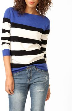 ShopStyle.com: FOREVER 21 Colorblocked Longline Sweater $22.80