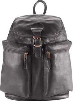 Clava Zip Top Backpack Vachetta Black Via Ebags