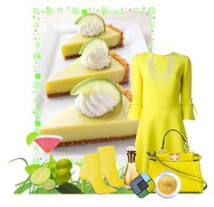 """""""Key Lime Pie"""" by sgolis ❤ liked on Polyvore featuring Ermanno Scervino, Fendi, Christian Louboutin, Christian Dior, Yves Saint Laurent, Chanel, vintage, keylime, yellowdress and contestentry"""