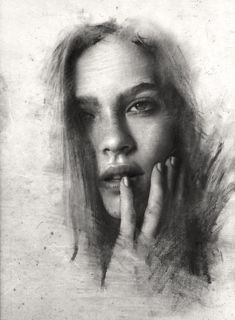 The masterful drawings of a young Russian artist defining his style through art literature and life. Portrait Sketches, Pencil Portrait, Portrait Art, Charcoal Sketch, Charcoal Art, Charcoal Drawings, Pencil Art Drawings, Art Drawings Sketches, Hipster Drawings