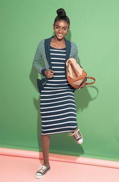 BP. Cardigan & Lush Dress #Nordstrom #BPNordstrom
