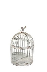 METAL BIRDCAGE WITH MIRROR