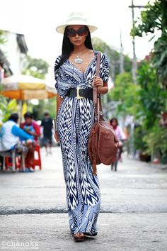 Style Watch: 30 summer looks with maxi dresses Beautiful Maxi Dress… easy to sew! The pattern is somewhere on this board or the DIY board. Fashion Mode, Love Fashion, Womens Fashion, Street Fashion, Dress Fashion, Boho Chic, Bohemian, Festival Mode, Look Boho