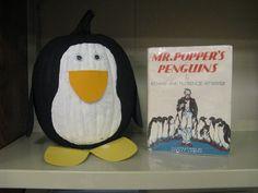 Mr. Popper's Penguin - Book Character Pumpkin (Pumpkin Painting 2011)
