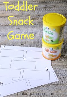 Your kids can play with their food with this fun Toddler Snack Game. Teaches numbers, counting and one-to-one correspondence.
