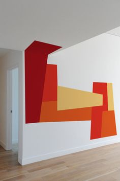 """From """"Color Blocking Wall Decals by Mina Javid for Blik"""" on Design Milk"""