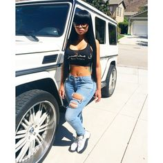 Blac Chyna and her Mercedes G-Wagon