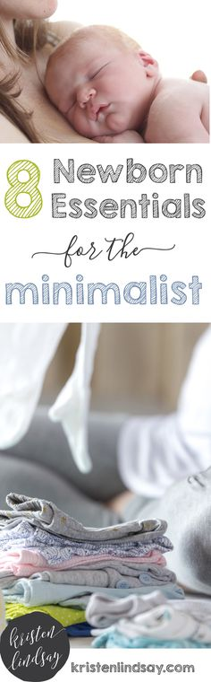 newborn essentials for the minimalist