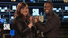 Aidy Bryant and this week's #SNL host Kevin Hart on their New Years Resolutions.