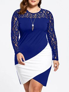 Plus Size Patchwork Sexy bodycon dress outfit casual bodycon dress outfit casual street style bodycon dress outfit casual summer bodycon dress bodycon dress outfit bodycon dress formal Trendy Plus Size Clothing, Plus Size Outfits, Bodycon Dress Formal, White Long Sleeve Dress, Dress Long, Dress Plus Size, Dress Vestidos, Casual Dress Outfits, Summer Outfits