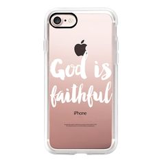 God is faithful white - iPhone 7 Case, iPhone 7 Plus Case, iPhone 7... (2.305 RUB) ❤ liked on Polyvore featuring accessories, tech accessories, iphone case, white iphone case, iphone cover case, iphone cases, slim iphone case and apple iphone case