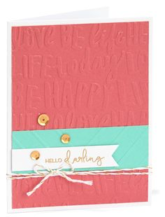 Embossing folders are a great way to personalize your cards #ctmh…