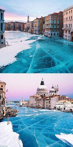 Beautiful Frozen Venice