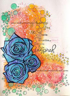 Art Journal Mixed Media - Original Art - Live Inspired