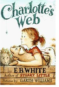Charlotte's Web  MY FAVORITE BOOK OF ALL TIME! The first book I paid for with my own money. Lost a hand-me-down vintage first edition and found this newer edition at glorietta 'quad' when I was about ten. Had to have it.