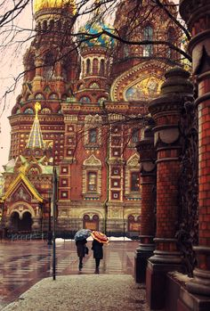 Rainy autumn day in St. Petersburg, Russia