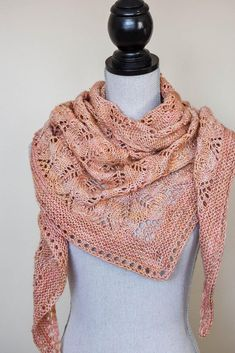Faded Roses Shawl Knitting pattern by Kelene Kinnersly