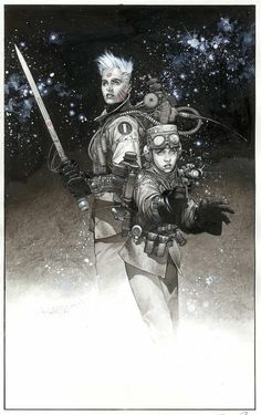 Travis Charest   More Travis Charest  @ http://groups.yahoo.com/group/ComicsStrips & http://groups.google.com/group/ComicsStrips   http://travischarestspacegirl.blogspot.com  http://www.travischarestgallery.com