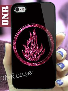 Divergent dauntless the brave red glitter MJ7 design for iPhone 4/4s, iPhone 5/5s/5c, Samsung Galaxy S3/S4 Case