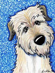 Dog Drawing - Irish Wolfhound by Kim Niles Cartoon Drawings, Animal Drawings, Cartoon Art, Irish Wolfhound Puppies, Irish Wolfhounds, Doodle Dog, Dog Paintings, Animal Wallpaper, Beautiful Dogs