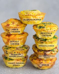 9 Low Carb Breakfast Egg Muffin Cups are packed with protein and perfect for busy mornings, weekend or holiday brunch. Best of all, so easy make-ahead breakfast for on the go. keto no cook Keto Egg Cups - 9 Delicious & Easy Low Carb Breakfast Recipes Breakfast Egg Muffins Cups, Low Carb Egg Muffins, Healthy Egg Muffins, Egg White Muffins, Omelette Muffins, Bacon Egg Muffins, Breakfast Ideas With Eggs, Mini Egg Muffins, Breakfast Bites