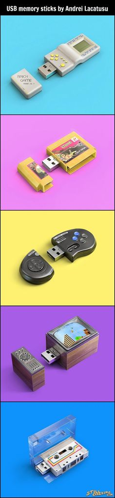 USB Memory Sticks By Andrei Lacatusu (Geek Stuff Gadgets)