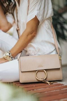 how to mix high and low end items, budget for designer items, chloe small faye handbag