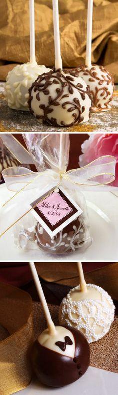 Mini Brownie Favor Pops ♡  #wedding #diy #shower