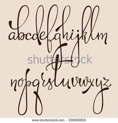 typography cursive alphabet - Google Search