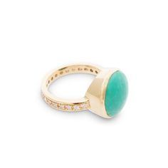Image of Turquoise Ring with Diamond Band