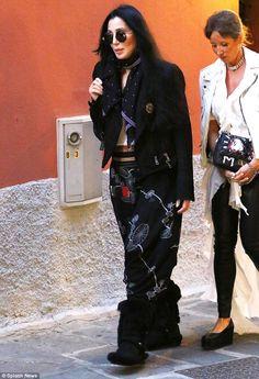 Cher enjoying la dolce vita in Portofino
