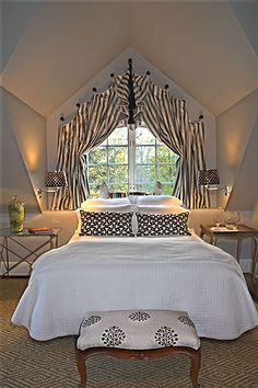 Great use of attic space. Love the window treatment