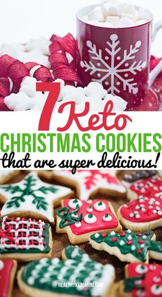 Low Carb Recipes 7 of The BEST Keto Christmas Cookies to make for the holidays of You can make these easy and delicious low carb Christmas cookies with cream cheeses, almond flour, stevia, and peanut butter. All sugar-free and keto friendly! Keto Cookies, Cookies Healthy, Almond Cookies, Pumpkin Cookies, Shortbread Cookies, Almond Flour Sugar Cookie Recipe, Chocolate Cookies, Sugar Free Peanut Butter Cookies, Cookies Snickerdoodle